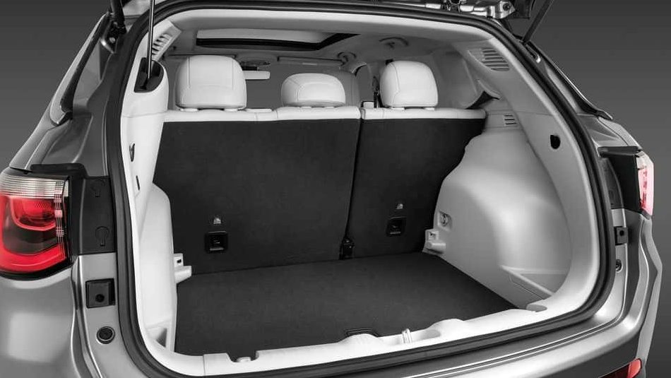 The spacious interior cargo space of the 2018 Jeep Compass
