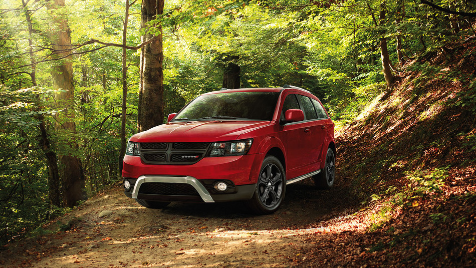 2019 Dodge Journey parked in a forest