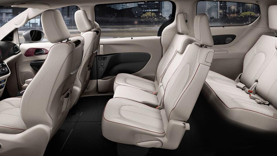 Chrysler Pacifica interior view of seating arrangement