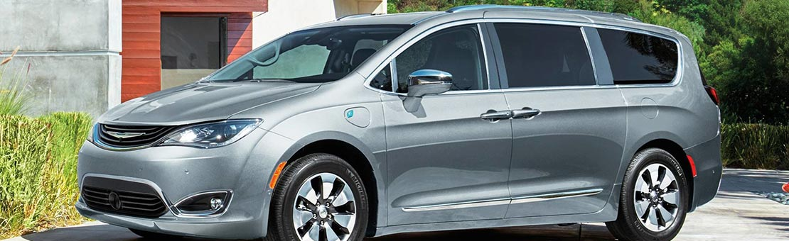Chrysler Pacifica Hybrid parked on driveway