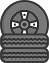 Stacked Tires Icon