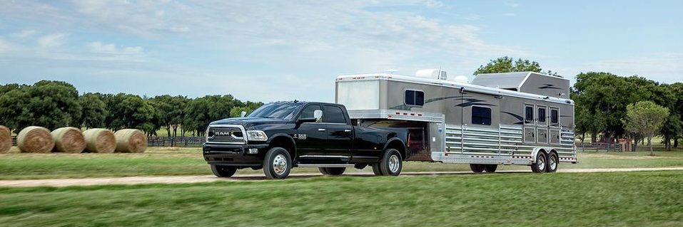 Ram 3500 towing a trailer