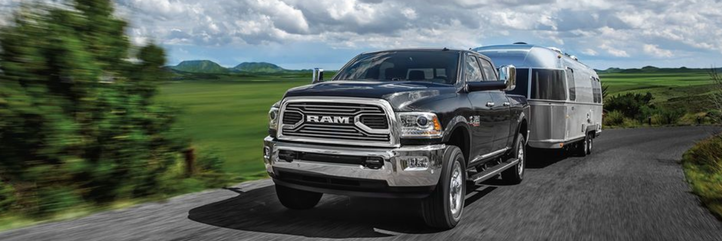 2018 Ram 2500 towing a trailer