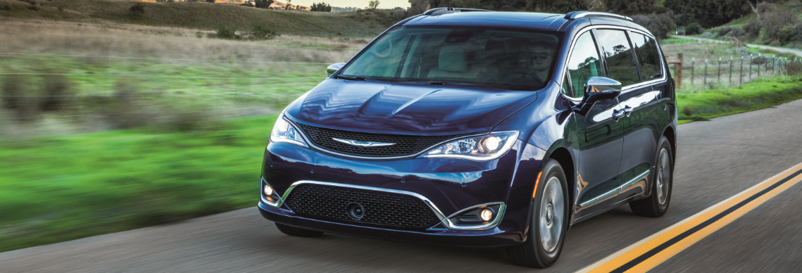 2017 Chrysler Pacifica driving on country road