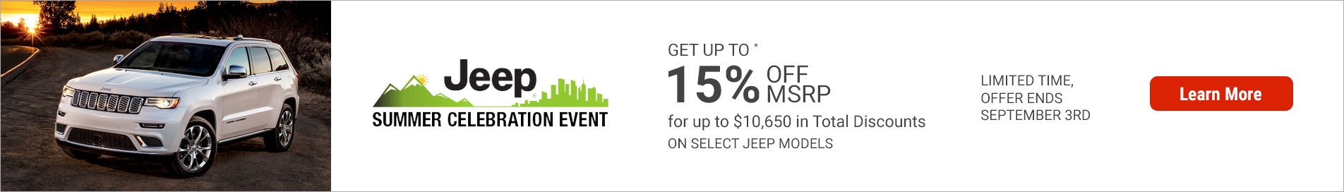 Jeep August 2019 OEM Offer