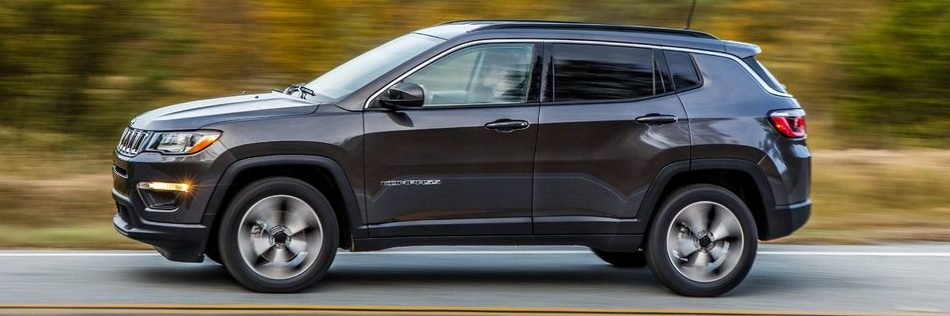 Jeep Compass driving on the road