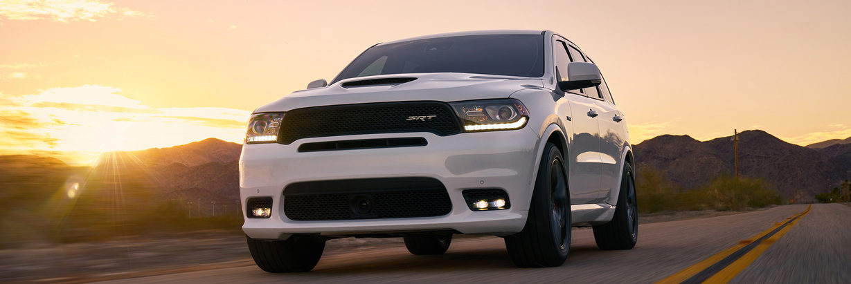 White Dodge Durango SRT
