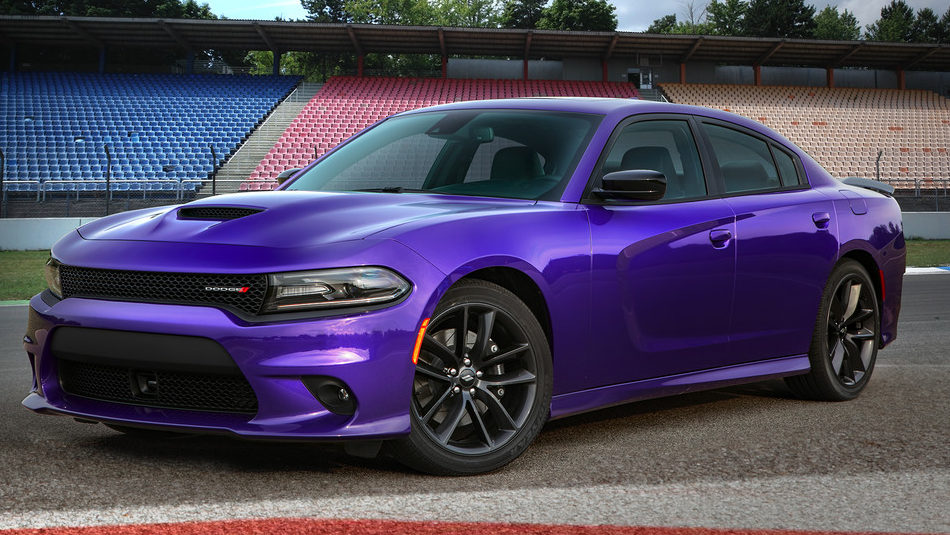 2019 Dodge Charger parked on a racetrack