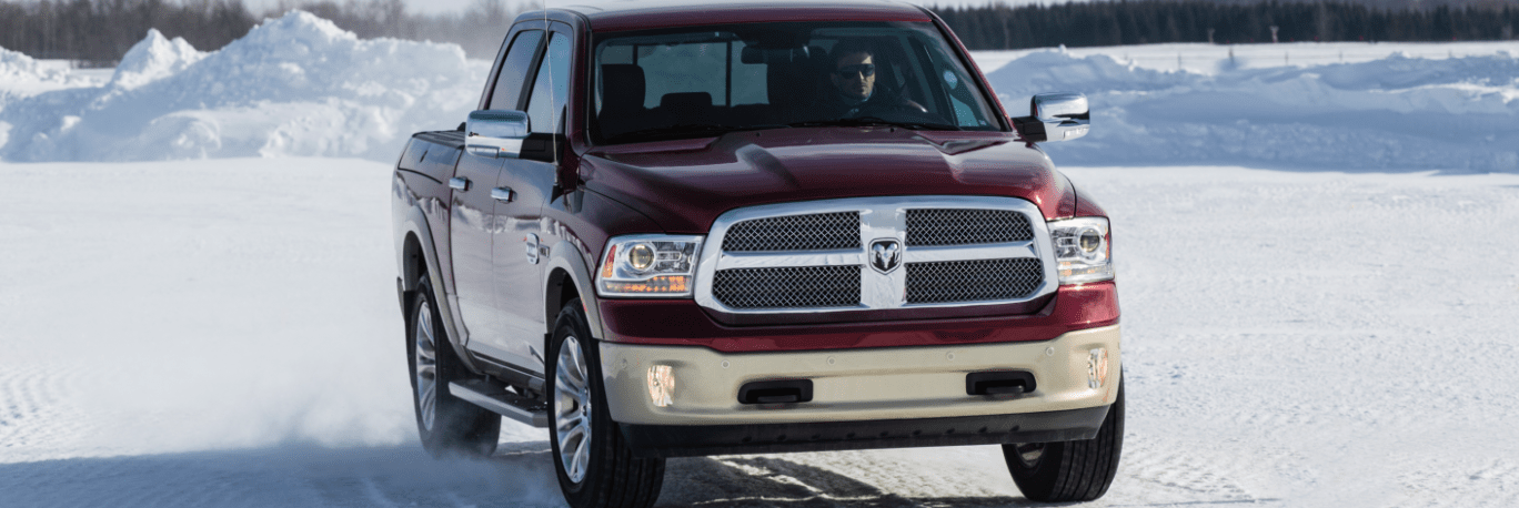 Ram 1500 Classic driving on a winter plain