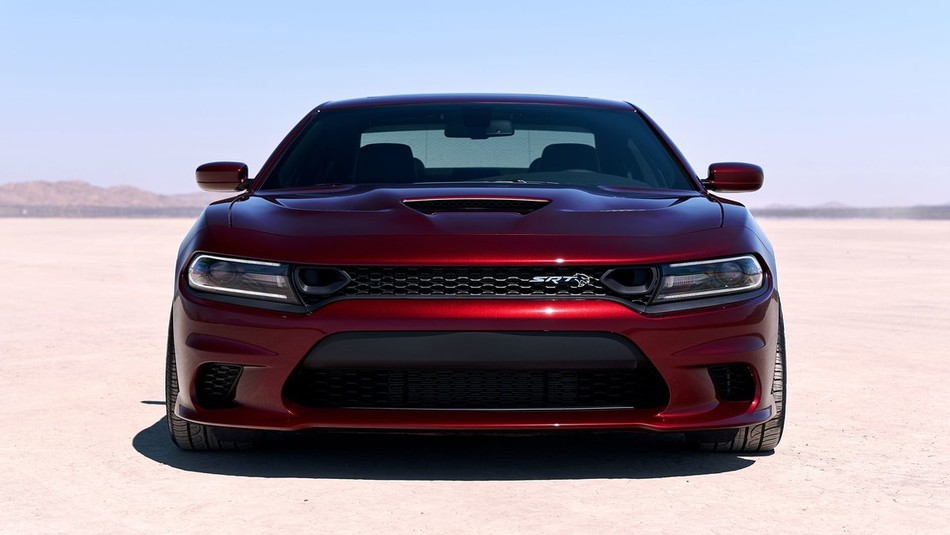 Head on shot of 2019 Dodge Charger in red