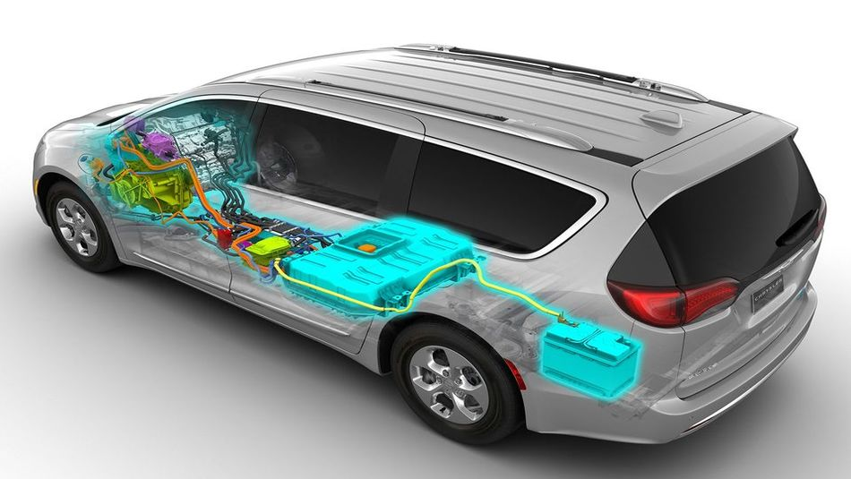 an internal highlighted diagram structure of the Pacifica hybrid