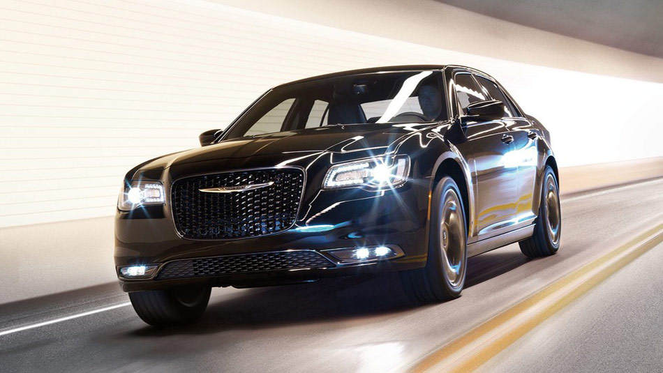2019 Chrysler 300 driving through a tunnel