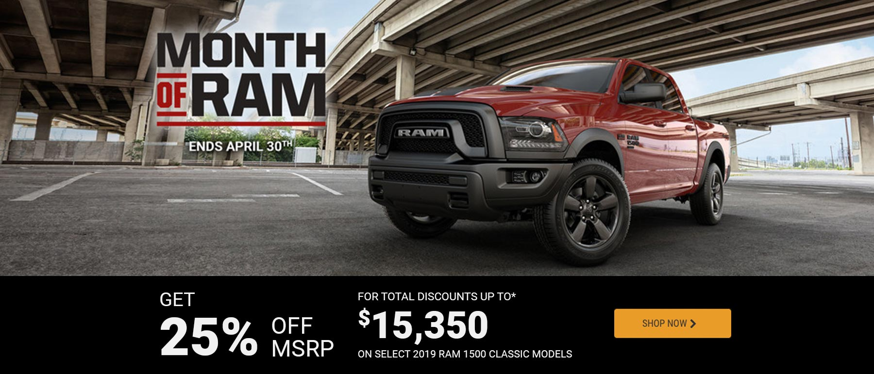 Ram April 2019 OEM Offer