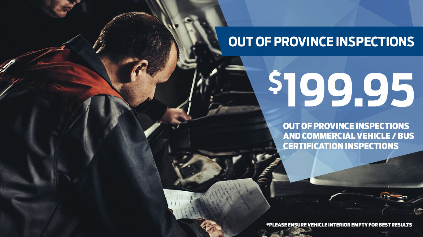 Kentwood Ford out of province inspection coupon