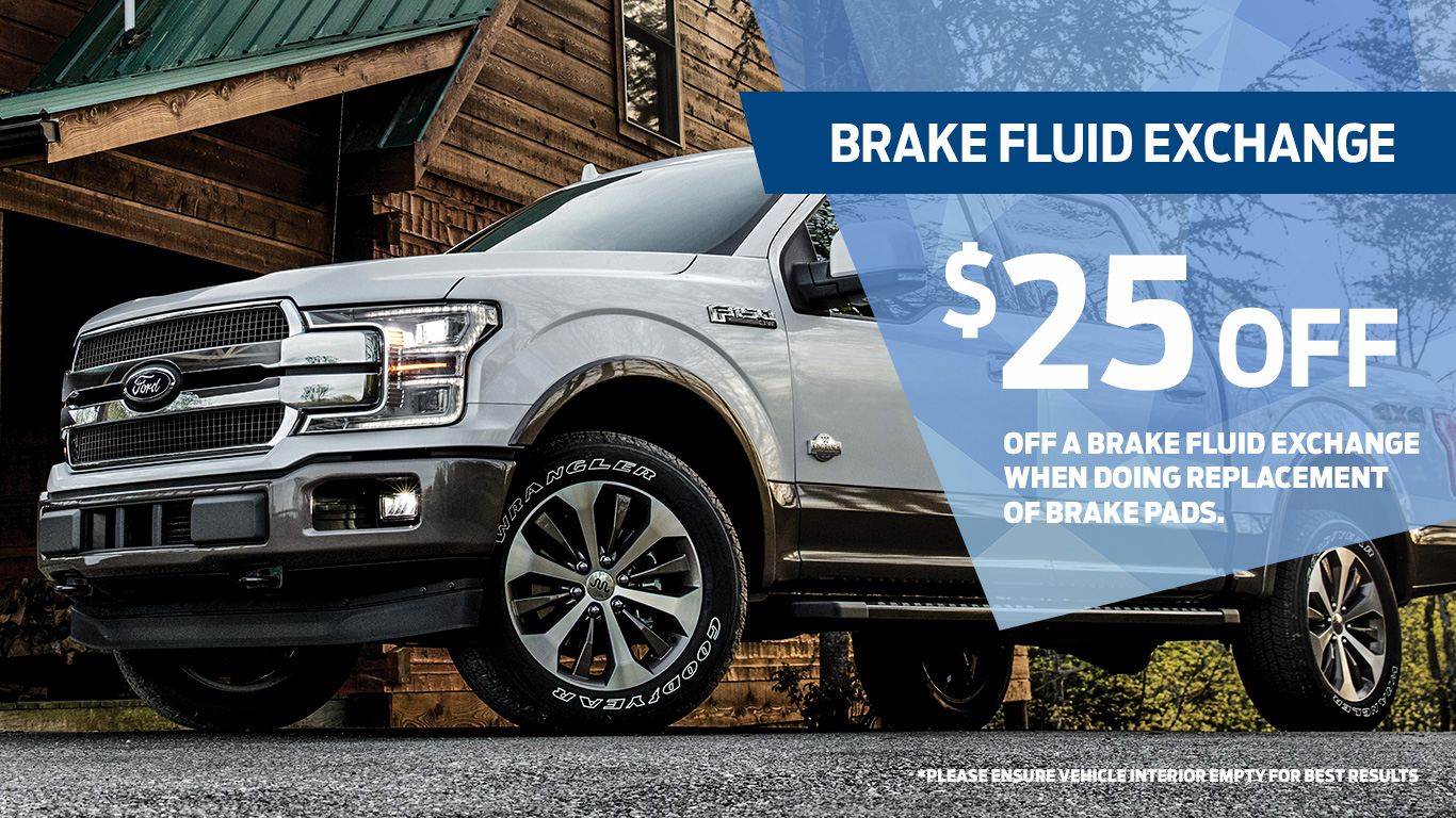 Kentwood Ford brake fluid exchange coupon