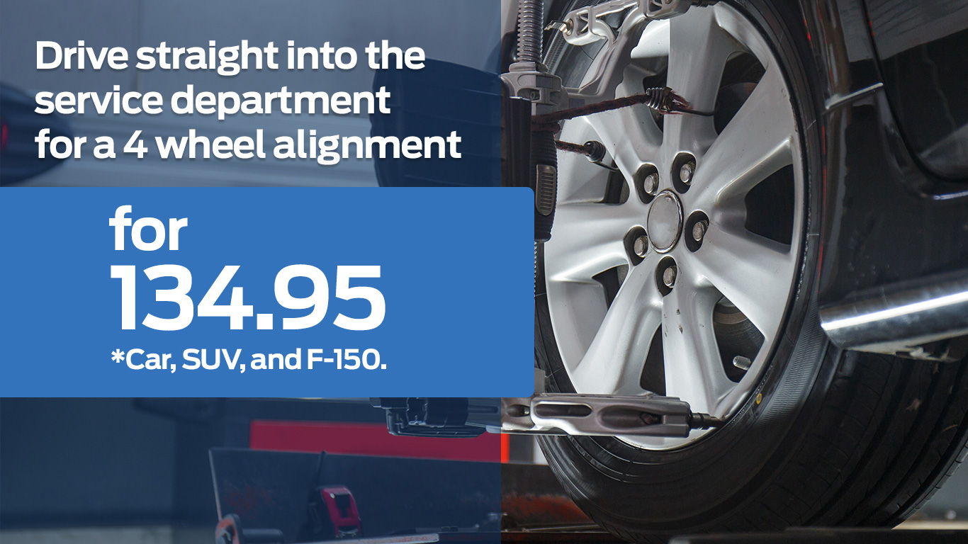 Kentwood Ford 4 wheel alignment coupon