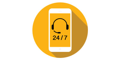 24/7 customer service Icon