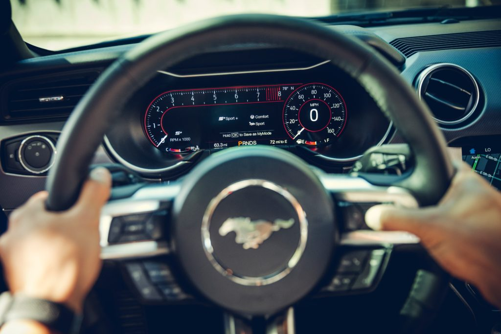 2019 Ford Mustang steering wheel