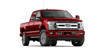 Red Ford Super Duty in Red