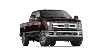 Maroon Ford Super Duty Lariat