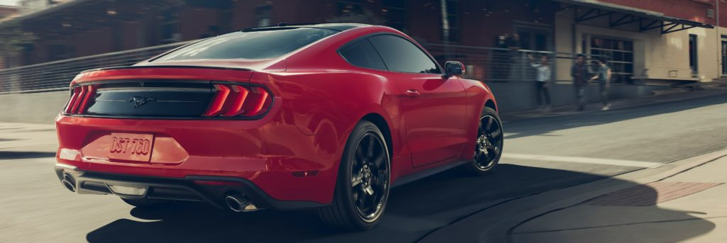 Mustang Red Rear View