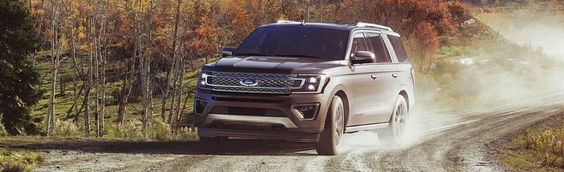 2018 Ford Expedition Platinum on an off-road adventure