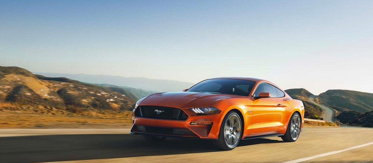 2018 Ford Mustang sports car new redesigned front and rear fascia