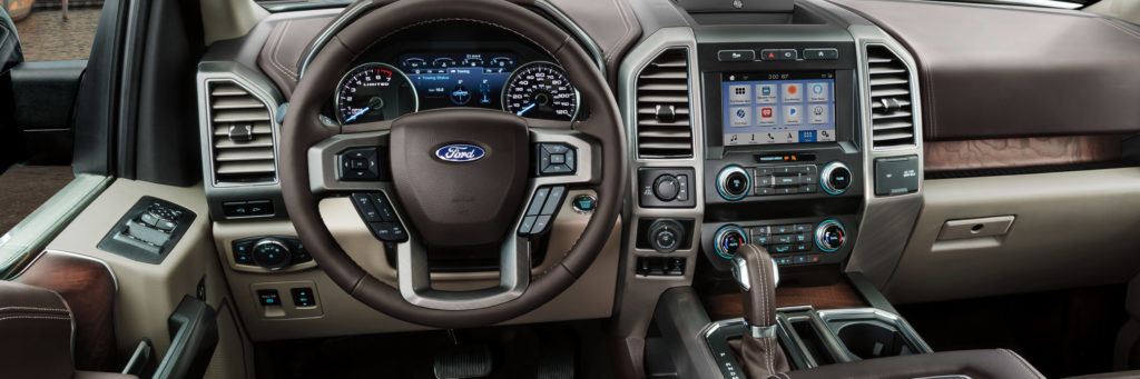 The luxurious interior of the 2019 F-150 Limited