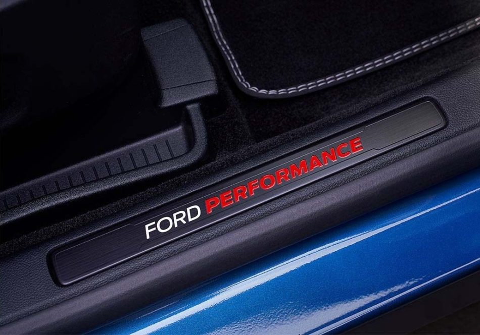 Ford Performance logo on the edge of the door