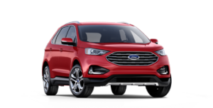 2019 Ford Edge Titanium in red