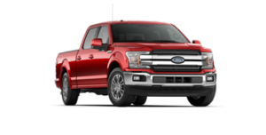Ford F-150 Lariat in red