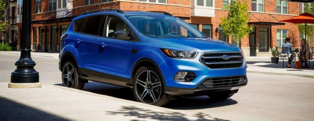 2019 Ford Escape in blue with the SEL Sport Appearance Package