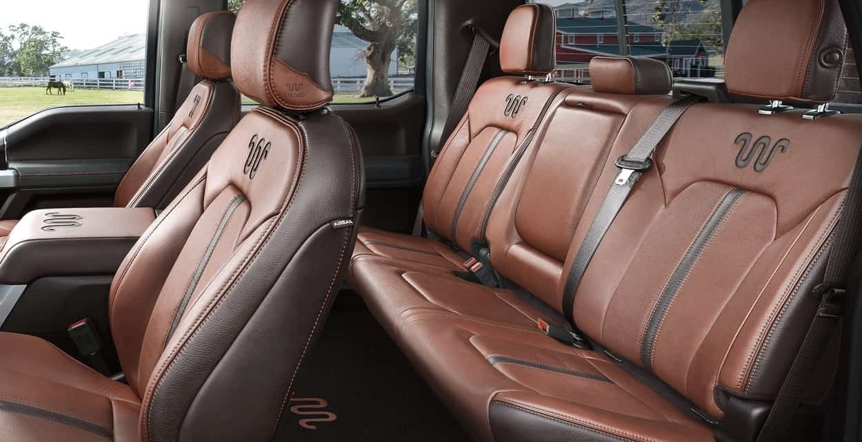 Unique Super Duty King Ranch Kingsville Antique Affect Leather Bucket Seating Surfaces