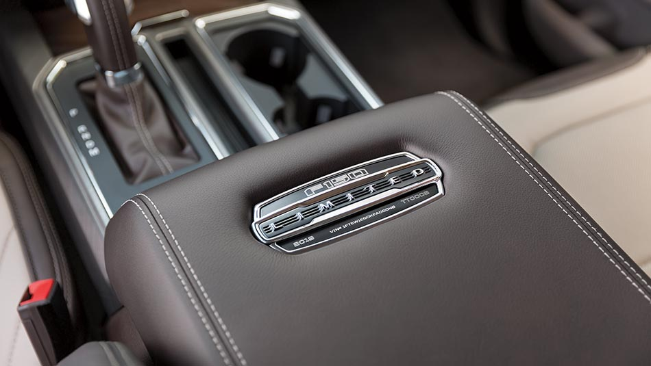2019 Ford F-150 arm rest with emblem