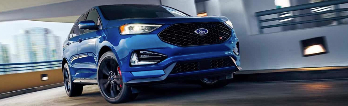 2019 Edge ST shown in Ford Performance Blue
