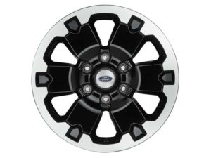 "Wheels - 18"" Black, Machine Faced, Set of 4"