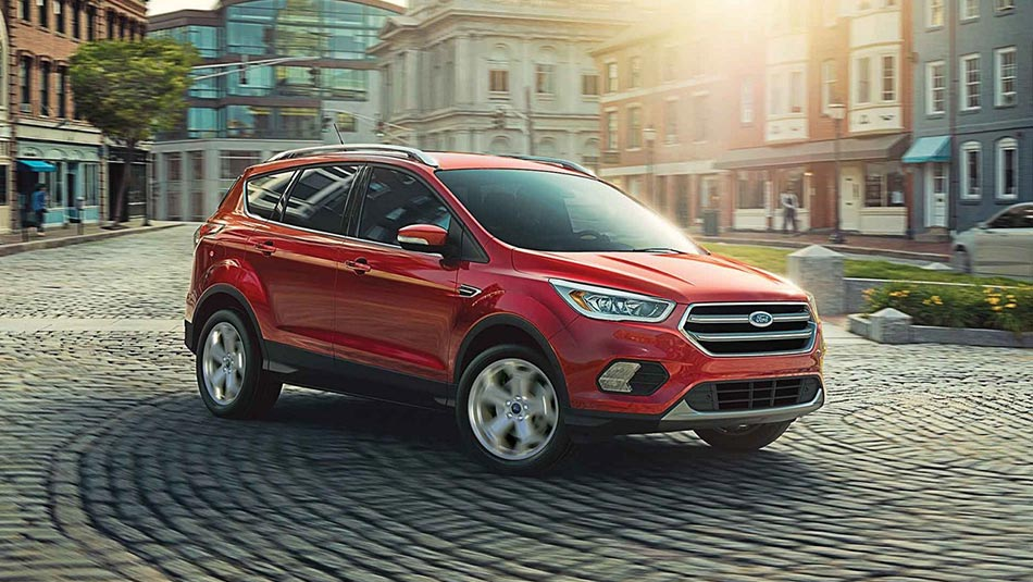 2019 Ford Escape Titanium driving in city