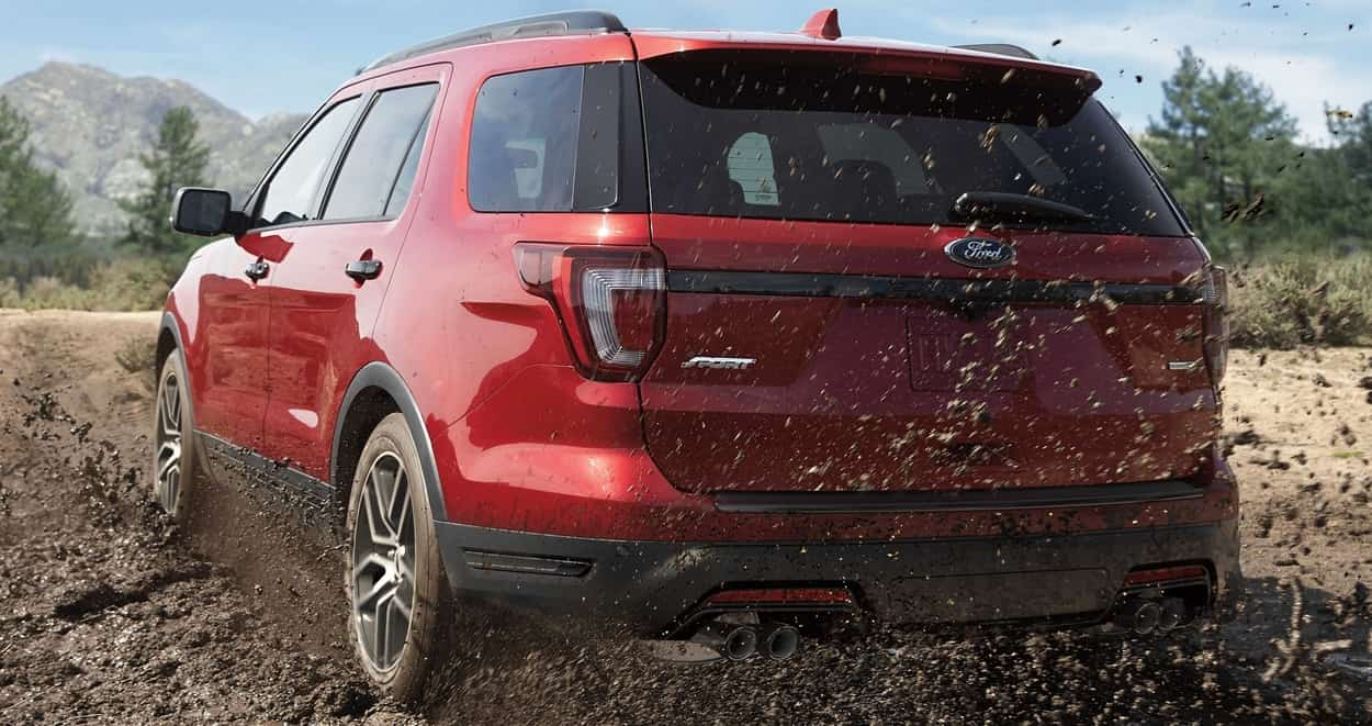 2019 Ford Explorer Sport in Ruby Red
