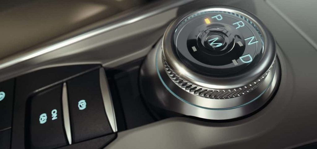 rotary gear shift on the 2020 Explorer ST