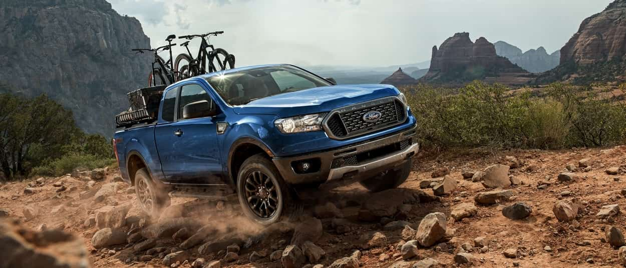 2019 Ford Ranger showcasing the Terrain Management System