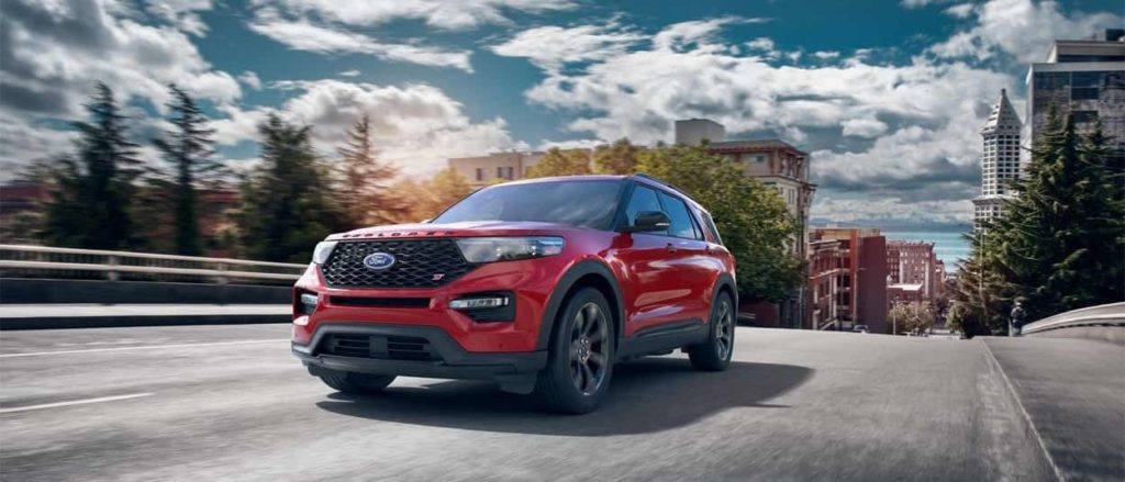 2020 Ford Explorer ST in red