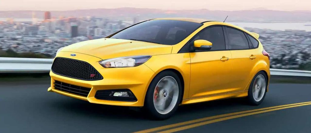 2018 Ford Focus ST in yellow