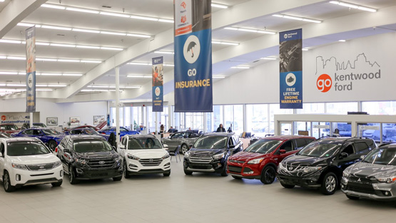 vehicle showroom at Kentwood Ford