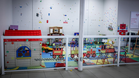 kid's play centre at Kentwood Ford