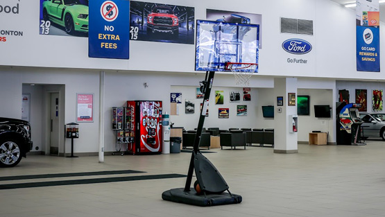 basketball hoop at Kentwood Ford
