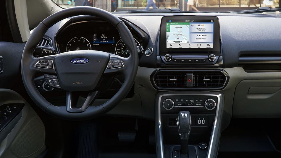 2019 Ford Ecosport interior view of steering wheel