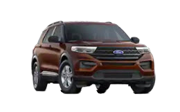 2020 Ford Explorer XLT in maroon