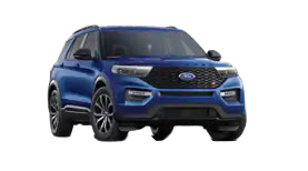 2020 Ford Explorer ST in blue