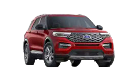 2020 Ford Explorer Platinum in red