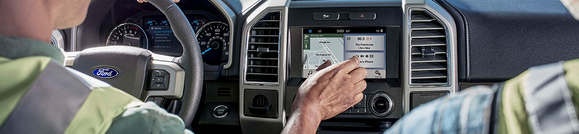 touchscreen on the 2019 ford f-150